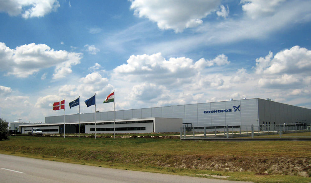 کارخانه تولید پمپ آب گراندقوس در دانمارک