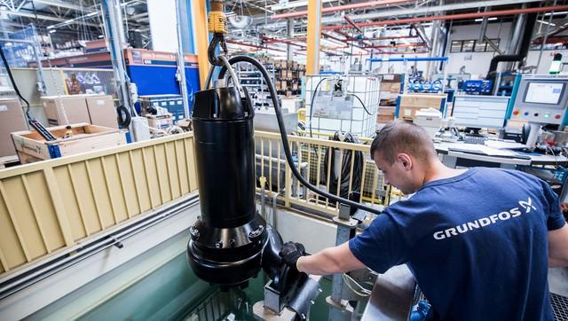 خط تولید پمپ آب گراندفوس